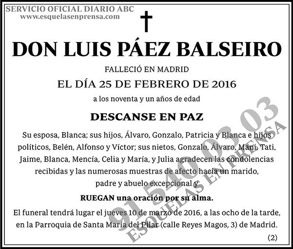 Luis Páez Balseiro